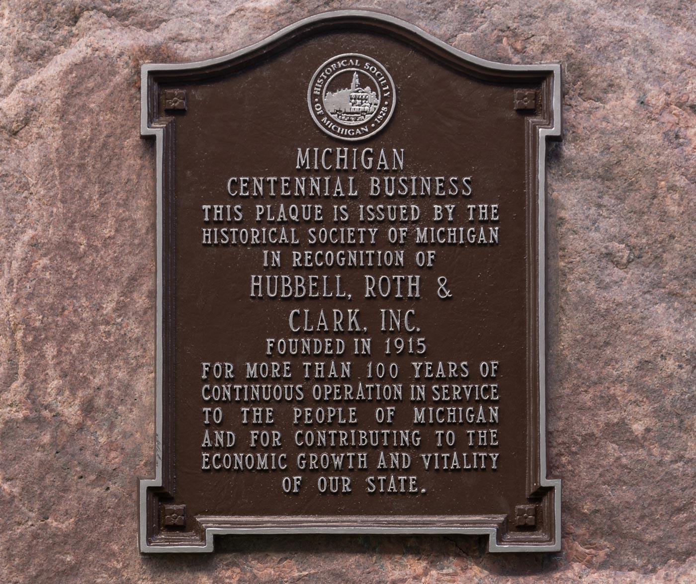 centennial plaque honoring hrc
