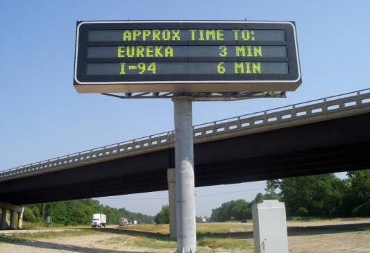 digital traffic sign