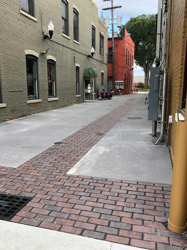 Howell alleyway repair